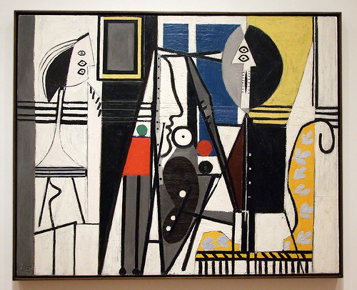 "Pablo Picasso, Painter and Model, 1928 Oil on canvas, 51 1/8 x 64 1/4"" (129.8 x 163 cm). The Sidney and Harriet Janis Collection. © 2009 Estate of Pablo Picasso / Artists Rights Society (ARS), New York"