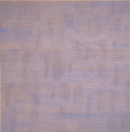 Agnes Martin, Falling Blue, 1963; Gift of Mr. and Mrs. Moses Lasky; © Estate of Agnes Martin