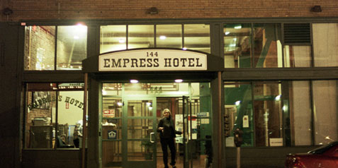 Still from _Empress Hotel_, 2008. Allie Light and Irving Saraf, directors