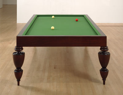 Sherrie Levine, _La Fortune (After Man Ray)_, 1990. Felt, mahogany, and billiard balls
