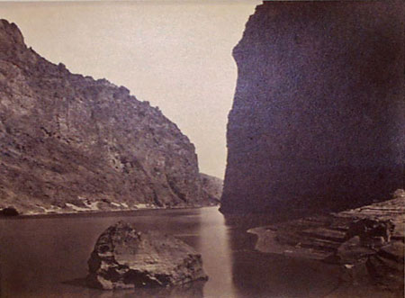 Timothy H. O'Sullivan, Black Cañon, Colorado River, Looking Below, Near Camp 7, 1871; Collection SFMOMA, Accessions Committee Fund