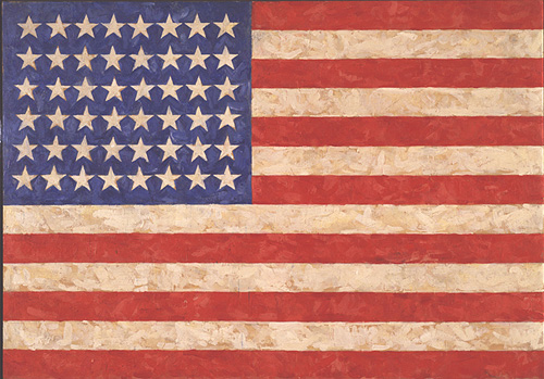 Jasper Johns, _Flag_, 1958. On extended loan from Jean Christophe Castelli.