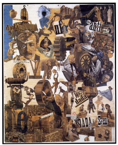 Hannah Höch, Cut with the Dada Kitchen Knife through the Last Weimar Beer-Belly Cultural Epoch in Germany, 1919, collage of pasted papers, 90 x 144 cm, Staatliche Museum, Berlin.