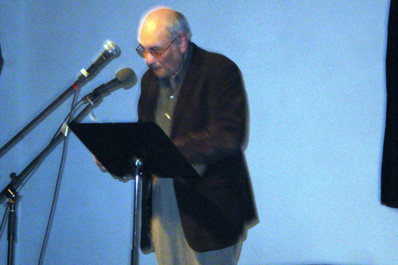 Charles Bernstein reading in June at 21 Grand in Oakland. Electrifying event.