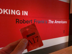 A17 outside the Robert Frank exhibition