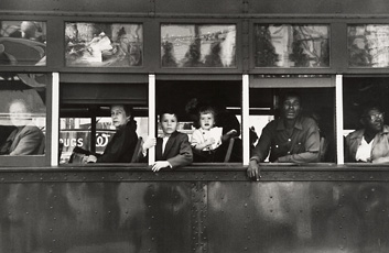 Robert Frank, Trolley—New Orleans, 1955; gelatin silver print; Lent by The Metropolitan Museum of Art, Gilman Collection, Purchase, Ann Tenenbaum and Thomas H. Lee Gift, 2005; © Robert Frank
