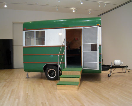 Andrea Zittel, A to Z 1995 Travel Trailer Unit Customized by Andrea Zittel and Charlie White, 1995; © Andrea Zittel