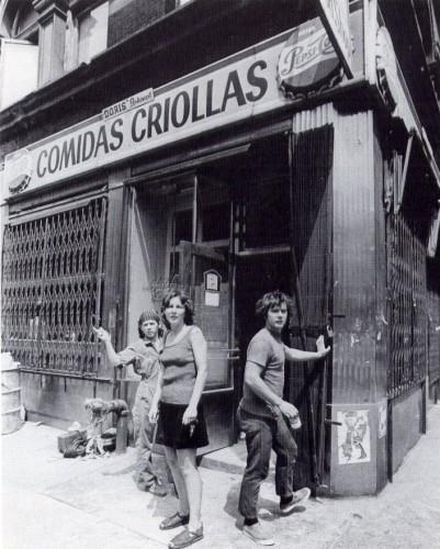 Food, Prince St. at Wooster St., New York, with Tina Girouard, Caroline Goodden and Gordon Matta-Clark