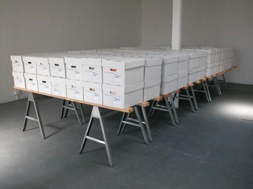 """Tercerunquinto, """"New Langton's Archive For Sale - A Sacrificial Act,"""" 2007"""