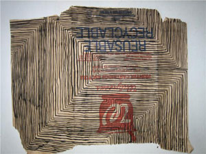 Cliff Hengst Untitled (Paper Bag Drawing), 2009