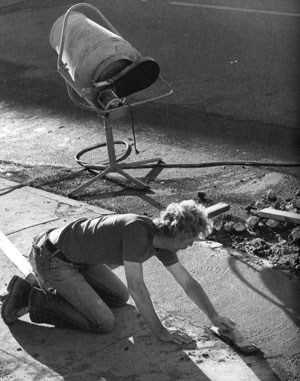 David Ireland, Sidewalk Repair, 500 Capp Street, 1976