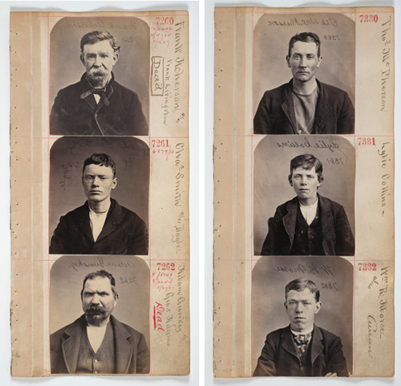 John Davis on Unknown, Untitled [Six California mug shots]