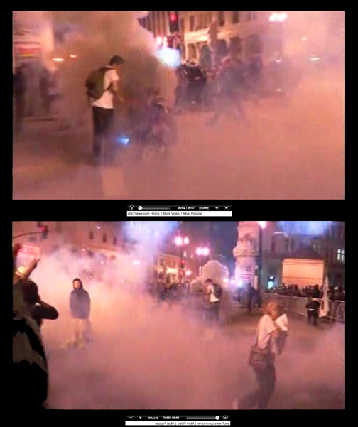 Clouds of Tear Gas in Oakland
