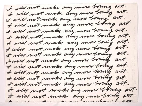 NEW YEAR'S RESOLUTION: No More Boring Art
