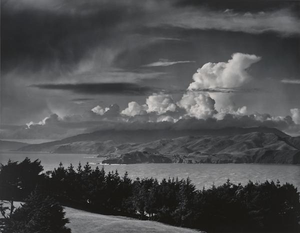 Ansel Adams: Marin Hills, over the Golden Gate