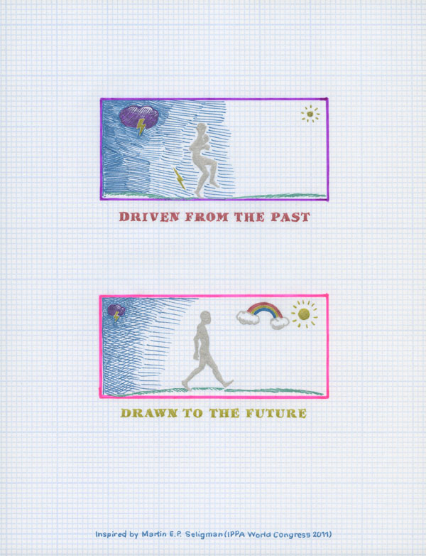 Driven from the past; drawn to the future. Inspired by Martin E. P. Seligman. (IPPA World Congress 2011)