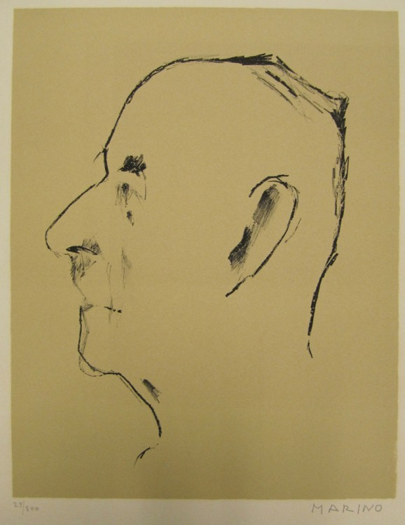 Marino Marini, Portrait of Thomas Mann, 1955