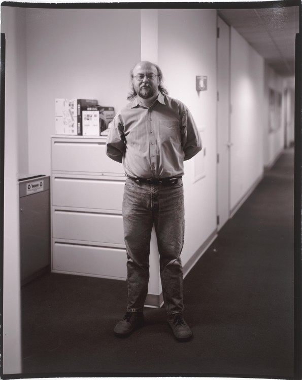 Judith Joy Ross, James Gosling, Inventor of Java, Silicon Valley 2000, 2000; photograph; gold toned printing-out paper print, 10 in. x 8 in. (25.4 cm x 20.32 cm); Collection SFMOMA, Accessions Committee Fund purchase; © Judith Joy Ross