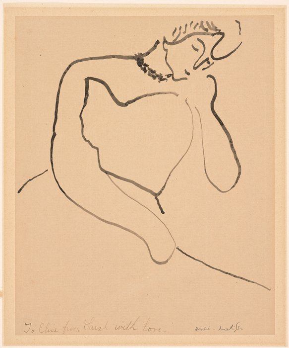 Henri Matisse, Femme s'inclinant (Woman Leaning), 1906-1907