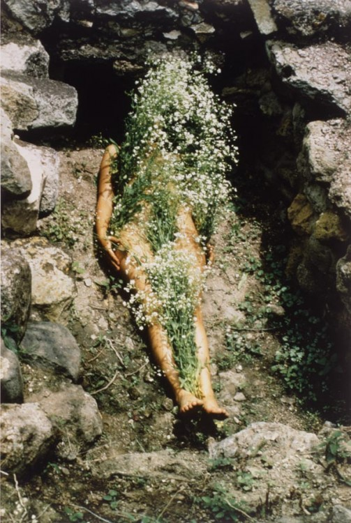 Ana Mendieta, Imagen de Yagul, from the series Silueta Works in Mexico 1973-1977, 1973