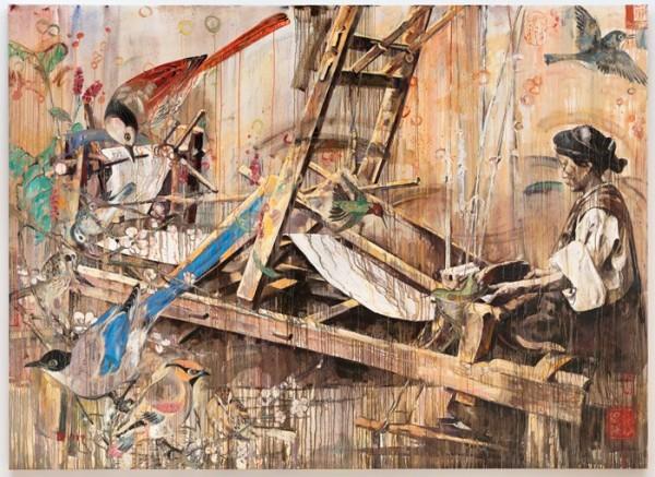Hung Liu, Loom, 1999