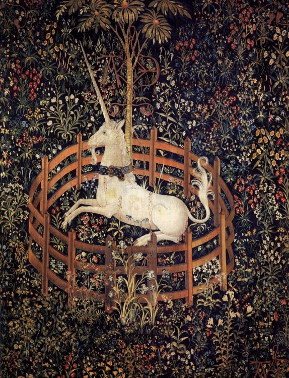 Unknown Weaver, Flemish (active around 1500 in Brussels), The Unicorn in Captivity, between 1495 and 1505