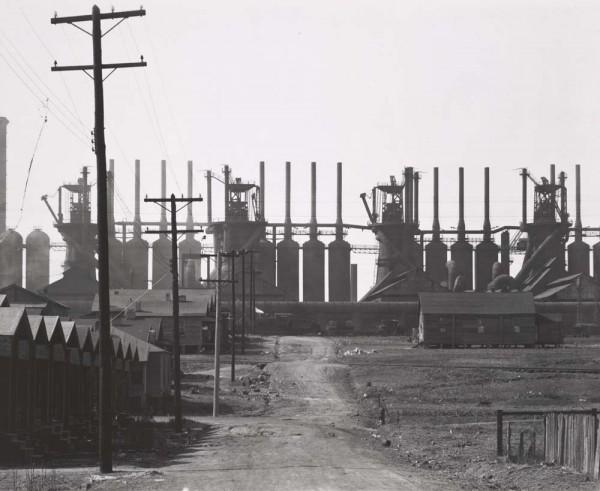 Walker Evans, Steel Mill and Workers' Houses, Birmingham, Alabama, 1936