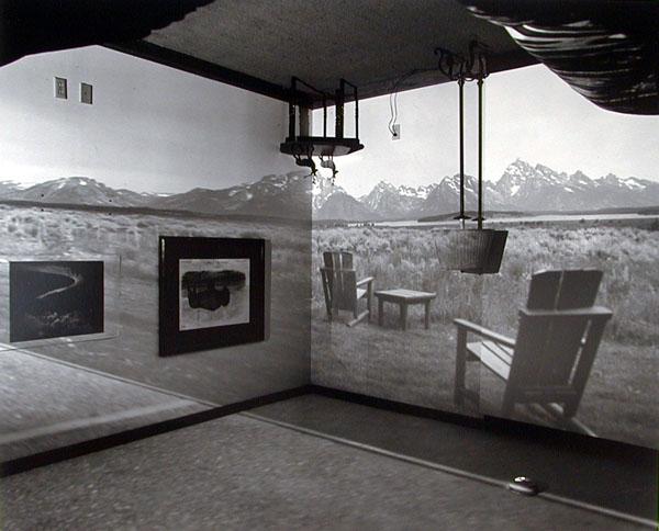 Abelardo Morell, Camera Obscura Image of the Grand Tetons in Resort Room, 1997