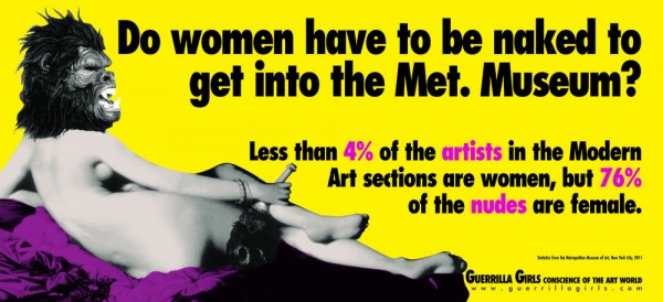 Guerrilla Girls, Do Women Have to be Naked to Get into the Met Museum?, 2011