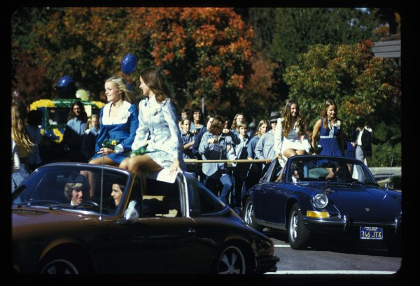 Charles Garoian, Documentation of Drill Team: Homecoming Parade, 1973; digitized slide documentation; collection of the artist; © Charles Garoian