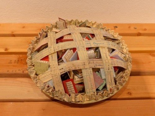 "Tamra Marshall, ""The Book Pie,"" 2013. Photo Lenore Chinn."