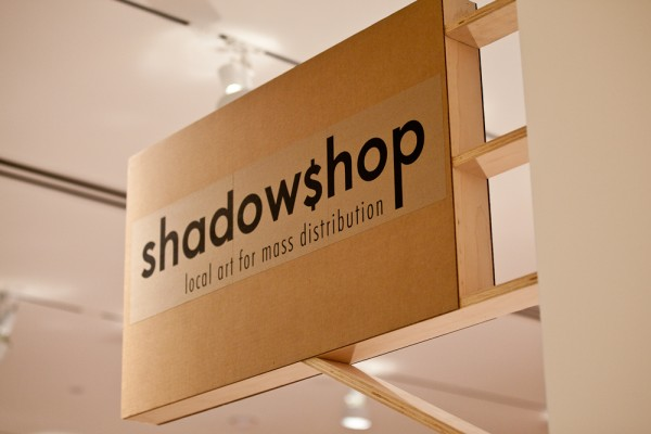 Stephanie Syjuco, Shadowshop sign, 2010