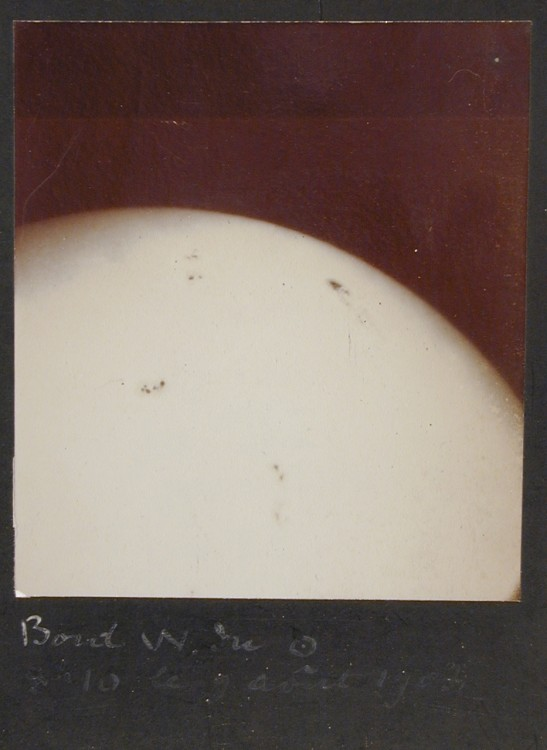 Unknown, View of the Sun, August 9, 1908, 1908