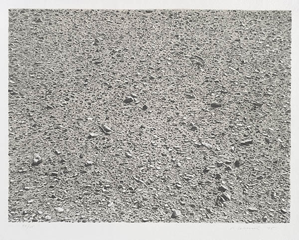 Vija Celmins, Untitled (Desert), from the portfolio Untitled, 1975