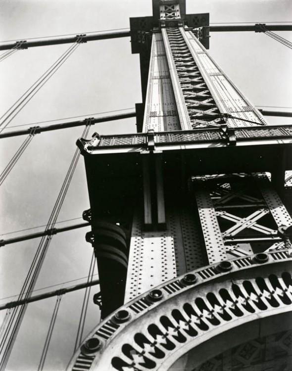 Berenice Abbott, Manhattan Bridge: Looking Up, 1936