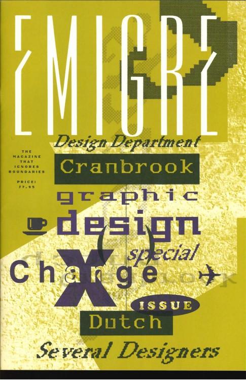 Emigre, Rudy VanderLans, Zuzana Licko, Emigre, no.10 (X-Change), 1988