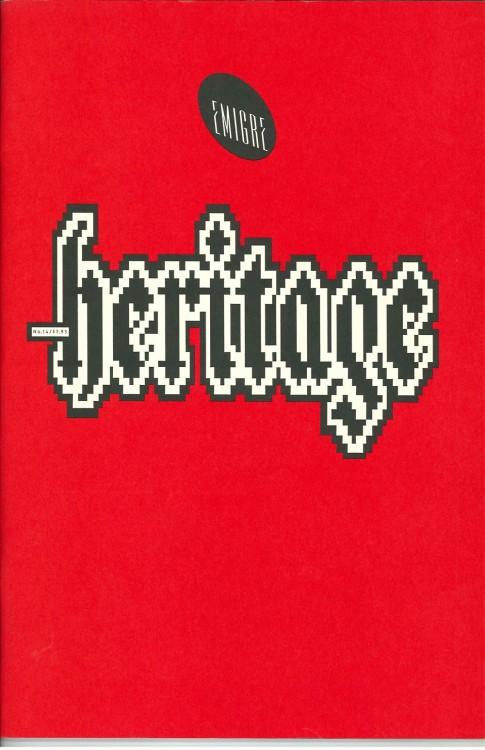 Emigre, Rudy VanderLans, Zuzana Licko, Emigre, no. 14 (Heritage), 1990