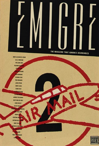 Emigre, Rudy VanderLans, Zuzana Licko, Emigre, no.2 (The Magazine That Ignores Boundaries), 1985