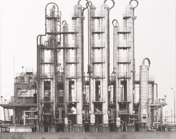 Bernd and Hilla Becher, Raffinerie bei Metz, Frankreich (Refinery near Metz, France), from the portfolio Industriebauten (Industrial Buildings), ca. 1965