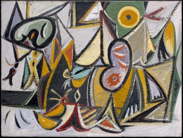 Arshile Gorky, Enigmatic Combat, 1936-37