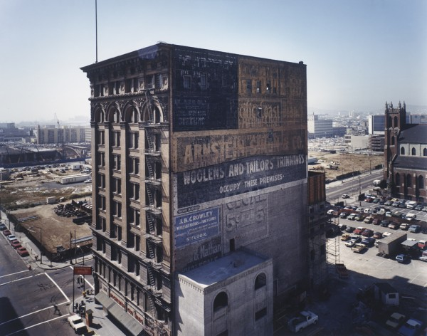 Janet Delaney, Mercantile Building, c. 1903, with a view toward the Moscone Center construction site, 1980 (printed 1988)