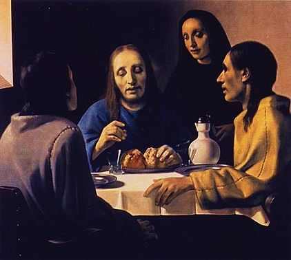 The Supper at Emmaus by Han van Meegeren (1936) which he passed off as a Vermeer.