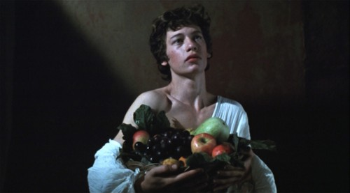 Still from Caravaggio (Derek Jarman, 1986).