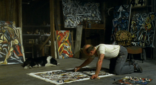 Ed Harris, as Jackson Pollock, in Pollock (Ed Harris, 2000).