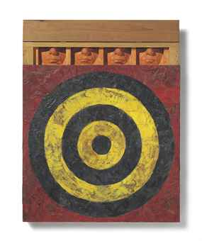 Elaine Sturtevant, Johns Target with Four Faces (Study) (1986)