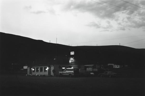 Lewis Baltz, Mustang Bridge Exit, Interstate 80, from the Nevada portfolio, 1977