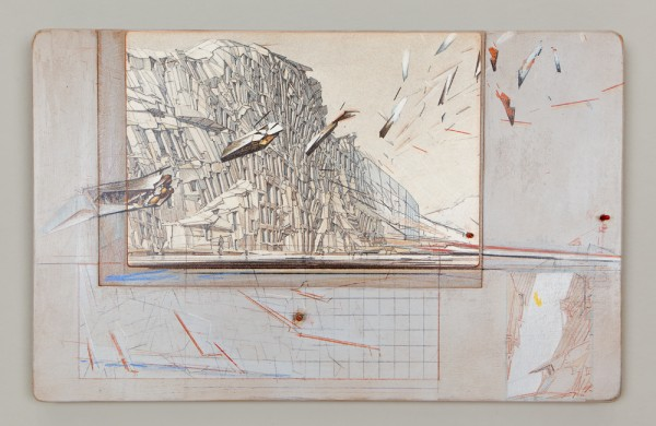 Lebbeus Woods, Quake City, from San Francisco: Inhabiting the Quake, 1995