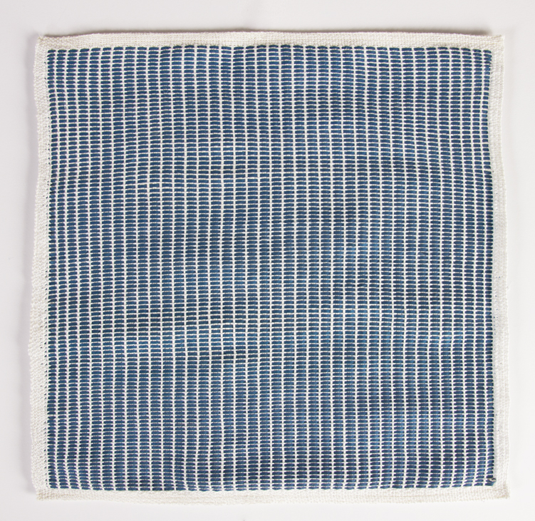 Francesca Capone, woven reproduction of Agnes Martin's Petal, 2016