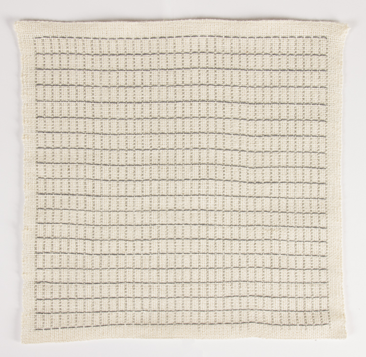 : Francesca Capone woven reproduction of Agnes Martin, Petal, 1964
