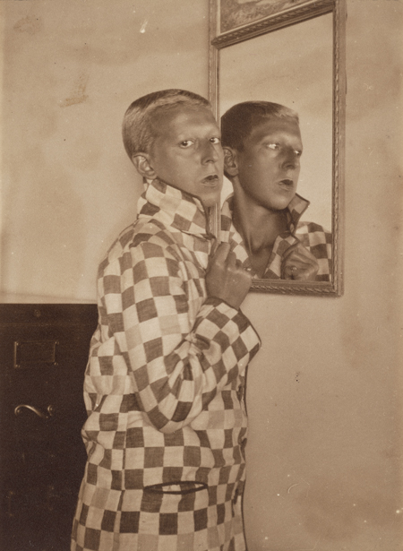 Claude Cahun (Lucy Schwob) and Marcel Moore (Suzanne Malherbe), Untitled, 1928; gelatin silver print, 3 5/8 in. x 2 5/8 in. (9.21 cm x 6.67 cm); Collection SFMOMA, Gift of Robert Shapazian; © Estate of Claude Cahun
